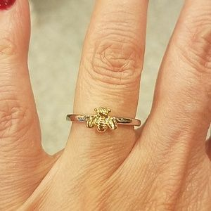 Jewelry - silver Gold plated Bee Ring size 7